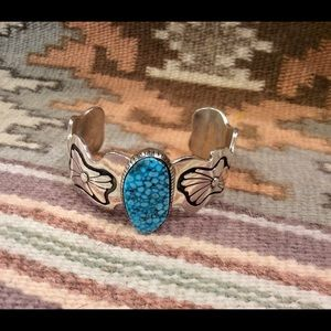 Jewelry - INCREDIBLE SPIDER WEB TURQUOISE CUFF